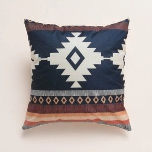 Geometric Aztec tribal pattern throw pillow cover